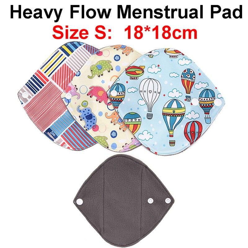 Reusable Bamboo Cloth Beauty Flower Printing Cloth Sanitary Pads For Women Girl Washable Menstrual Pad Mama Sanitary Towel Pad