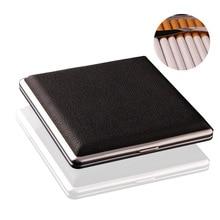 1 Pc Pu Leather 20 PCS Black Cigarette Case Tobacco Cigar Pocket Box Storage Holder Wallet