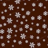 초콜릿 전송 시트, 크리스마스 눈송이 장식 베이킹 도구, 50 개 도매