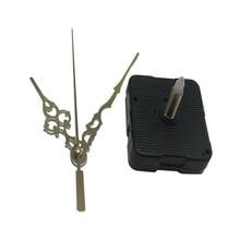 Металлические черные часы, указка, сделай сам, кварцевые часы, механизм, набор для ремонта рук, настенные часы, ремонт