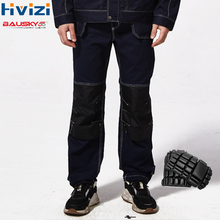 Mens Safety Work Pants Overalls Men Workwear Trousers Coveralls Cotton Muliti Pockets Work Clothes Wear-resisting Knee Pads B109 work clothing mens coverall repairman jumpsuits trousers working uniforms workwear coveralls plus size long sleevel coveralls