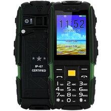Suppu X6000 телефон с Baterías portátiles Dual SIM фонарик большой Динамик 2.4 дюймов прочный Водонепроницаемый телефон (может добавить Русская клавиатура)