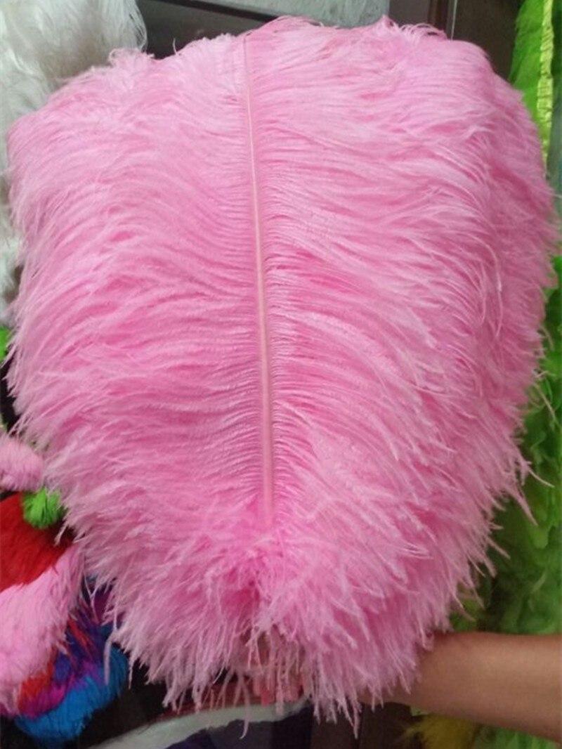 gran polo de plumas de avestruz plumas rosadas unids cm
