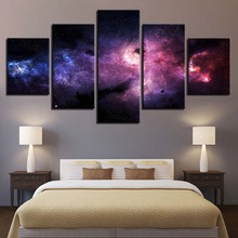 Home Decoration Canvas Painting HD Prints 5 Pieces Wall Art Starry Sky Landscape Modular Pictures For Living Room Artwork Poster