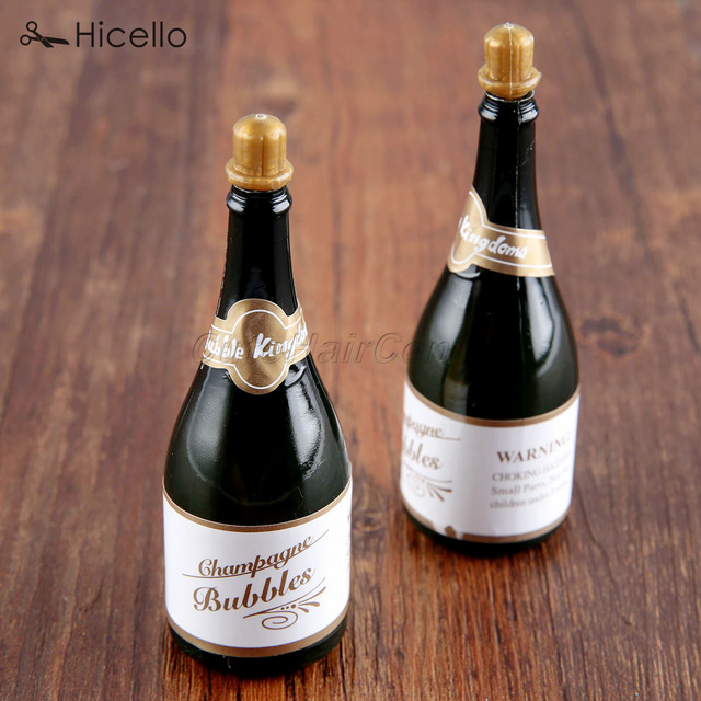 40pcs Bubble Bottles Empty Plastic Champagne Bottles Shape For New Decorated Alcohol Bottles For Birthday