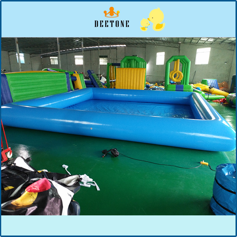 Hot sale 0.6 MMPVC large inflatable swimming pool size can be customized.Free distribution of pump