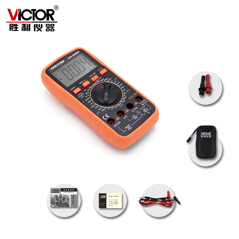 VICTOR VC980+ Ture RMS 4 1/2 Digital Multimeter Handheld Autoranging Electronic Instrument with Large LCD Display victor lcd 3 1 2 digital multimeter vc9804a