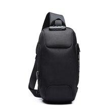 Men Outdoor Shoulder Bag Water-Resistant Oxford Cloth Chest Pack Fashion Burglarproof City Walking Backpack