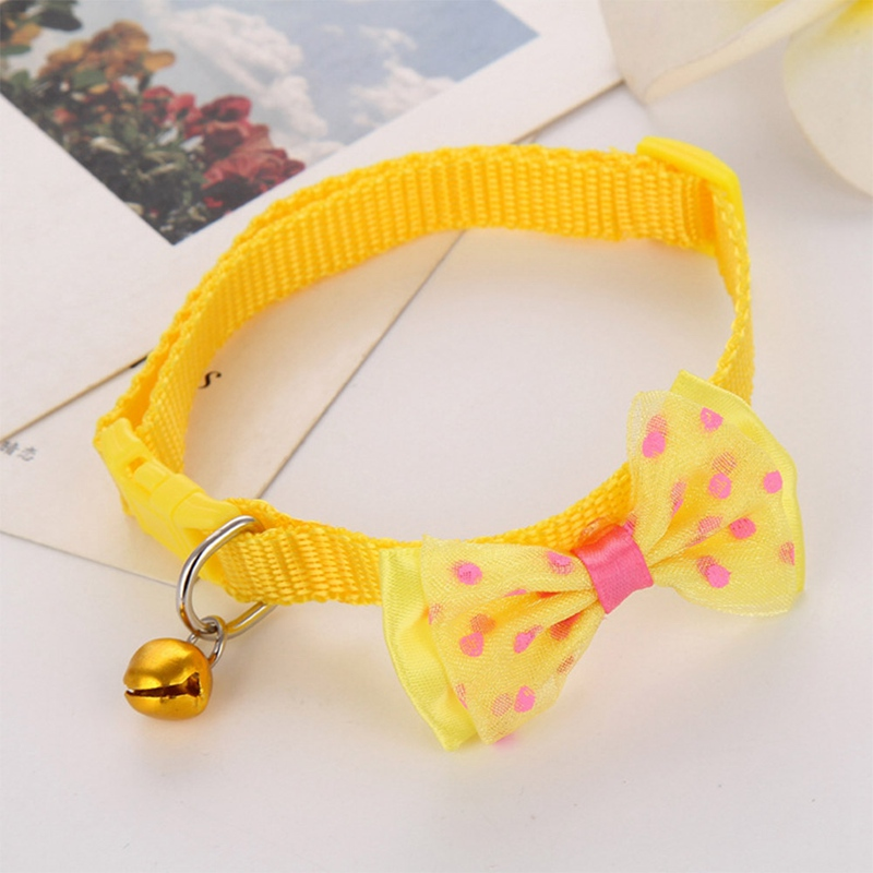 """1 шт., карамельный цвет, регулируемый галстук-бабочка, колокольчик, распродажа, ошейник """"галстук-бабочка"""", щенок, котенок, собака, кошка, домашнее животное, Прямая поставка - Цвет: YW1"""