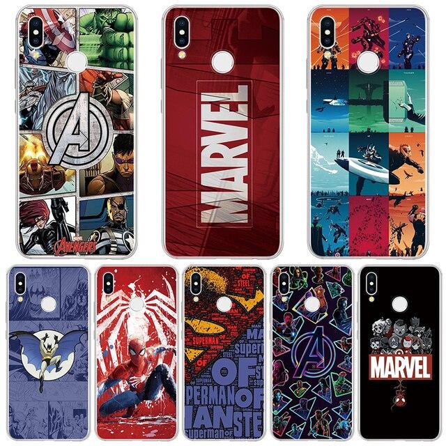 Vingadores Marvel Comics Caso de Telefone Para Huawei Companheiro 20 10 P30 P20 Pro P10 P8 P9 Lite 2017 P Inteligente 2019 Caso Para Huawei P30 TPU