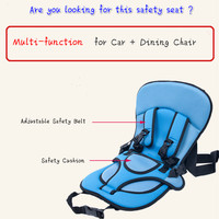 Portable Travel Baby Child Car Safety Seat Kids Car Seat Chair Cushion For Children Toddlers Car