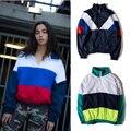 Gosha Rubchinskiy Jacket Women Men Gosha Russia Flag 100% Cotton Couples Thin Jacket Windbreaker Gosha Rubchinskiy Jacket