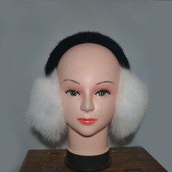 Зимние Модные теплые наушники из лисьего меха с водяным скорпионом для волос