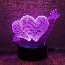 3D LED Hologram – Nočné svetlo – Arrow Through the Heart