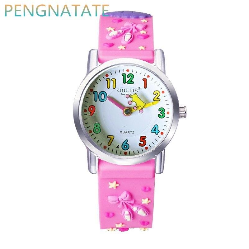 WILLIS NEW Quartz Child 3D CLOCK Children Waterproof Watches Cartoons Design Analog Clock kid Fashion Wrist Watches PENGNATATE jeanne willis wild child