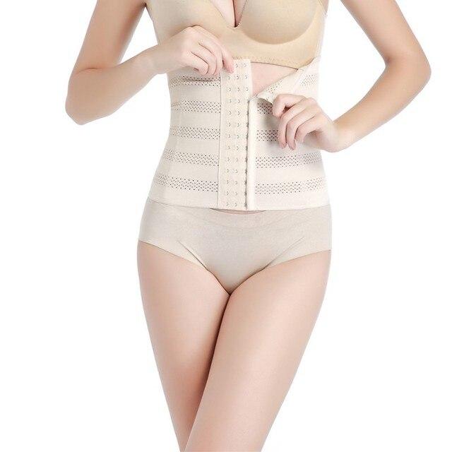 03adcbacd91 High Waist Women Body Shaper Latex Waist Trainer Cincher Tummy Girdle  Corset Shapewear Slimming Underbust Control Belt