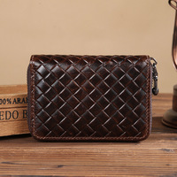Business Credit Card Id Holders Wallet Cardholder Unisex Men Women Porte Carte Genuine Leather Door Card