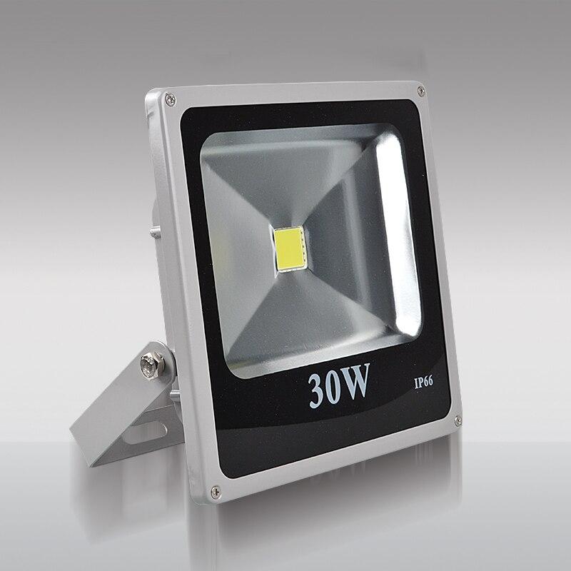 Ультра тонкий светодиодный свет потока 10 Вт 20 Вт 30 Вт 50 Вт IP65 напольный светильник отражатель 100 Вт 220 В Светодиодный прожектор сад свет снару...