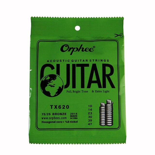 Orphee TX620 (010-047) Extra Light Folk Guitar Strings / Acoustic Guitar Strings Set 6pcs/set Guitar Accessories