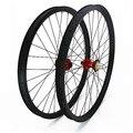 Carbon disc mtb laufradsatz 27.5er 40x30mm Asymmetrie mtb fahrrad disc räder hoffen 4 boost 100 x15mm 142 x 12mm carbon räder Fahrrad-Rad    -