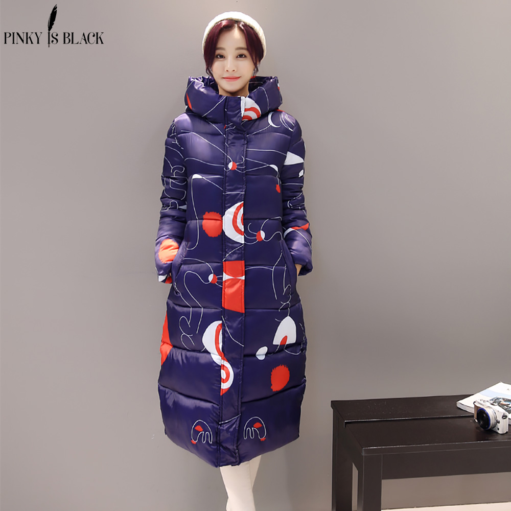 Image 5 - PinkyIsBlack 2019 new thicken wadded jacket outerwear winter jacket women coat long parkas cotton padded hooded jacket and coat-in Parkas from Women's Clothing