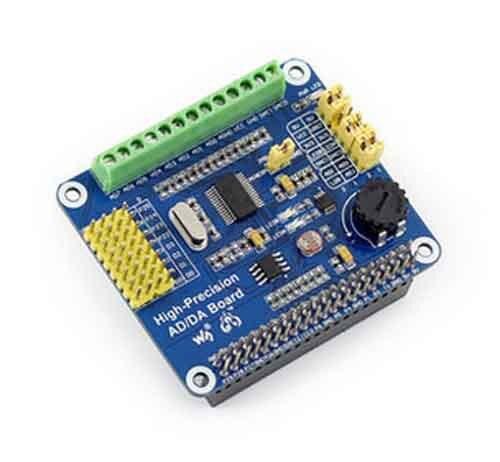 2 pz/lotto Alta Precisione AD/DA Modulo ADS1256 DAC8552 Per Raspberry Pi2 pz/lotto Alta Precisione AD/DA Modulo ADS1256 DAC8552 Per Raspberry Pi