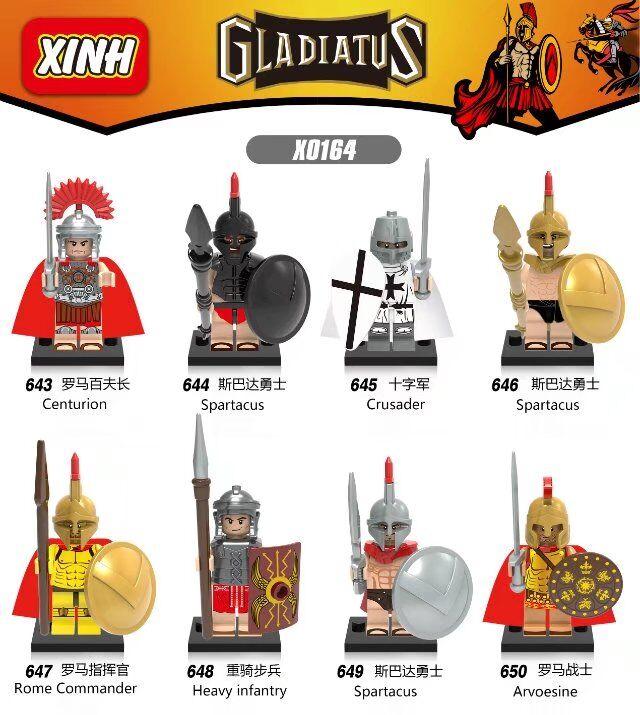 Single Rome Crusader Centurion Spartacus Arvoesine Heavy Infantry Warrior Figure Blocks Compatible With Lego lego romeinen
