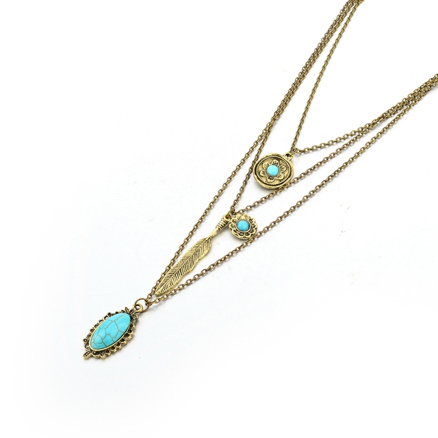 Фото chicvie винтажные простые цветочные античные ожерелья с листьями