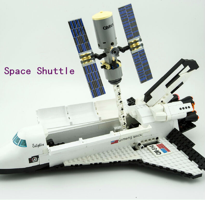 Enlighten Space Series Space Shuttle Initiation Building Blocks Sets 593pcs Educational Construction brick toy for children 514 legoe compatible enlighten bricks space shuttle space war diy educational toys for children gifts building blocks diy kit 593pcs