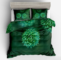 HOT SELL 3d Three dimensional green flower Botany Bedding Sets Duvet Cover pillow case Spring Leaf Bedding twin full queen size