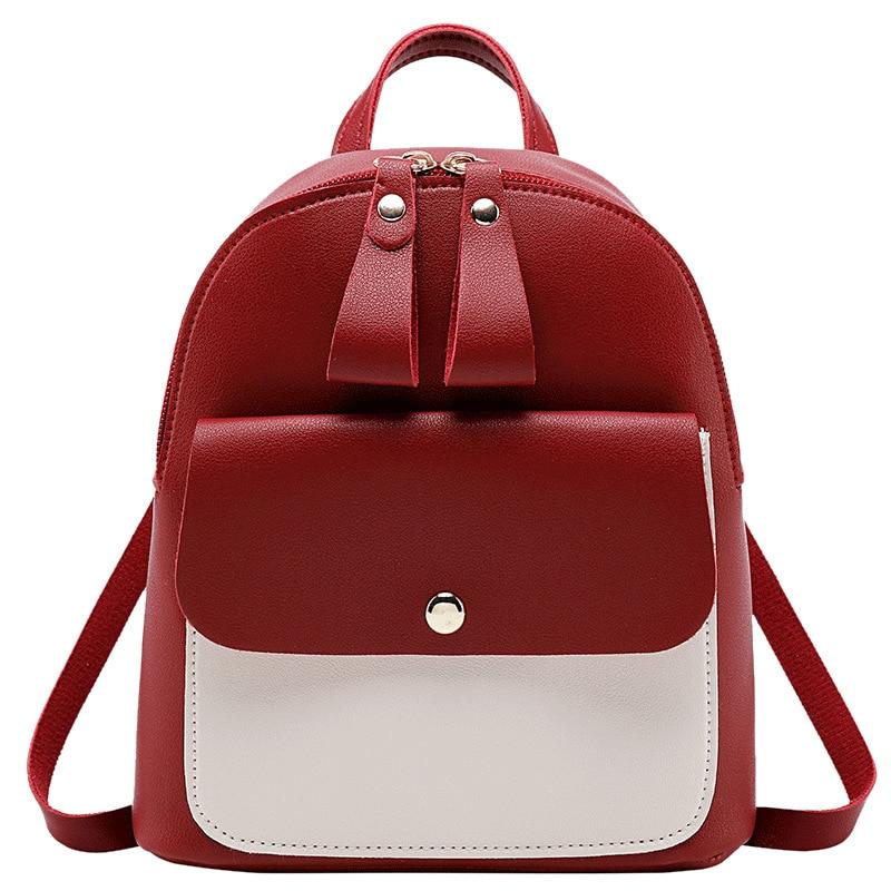 Children's Backpack Women Small Shoulder Hand Bags Female Back Pack 2019 Simple Fashion Multi-Function Mini Bag For Little Girls