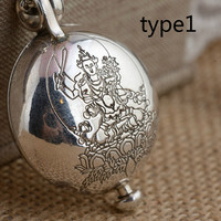 Genuine Sterling Silver 925 Buddha Figure Pendant For Men And Women Spiritual Meditation Buddhism Jewelry Openable