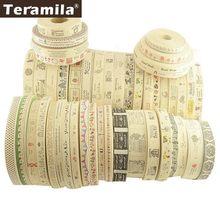 Teramila algodão vestuário etiquetas fitas 2 m/lote etiqueta artesanal diy costura artesanato roupas quilt acessórios 2.5cm 3cm 4cm largura