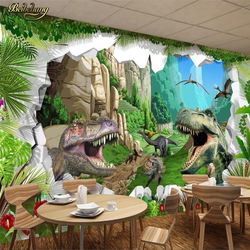 beibehang Custom photo wallpaper large mural wall stickers ancient dinosaur era 3D stereo TV sofa restaurant background wall