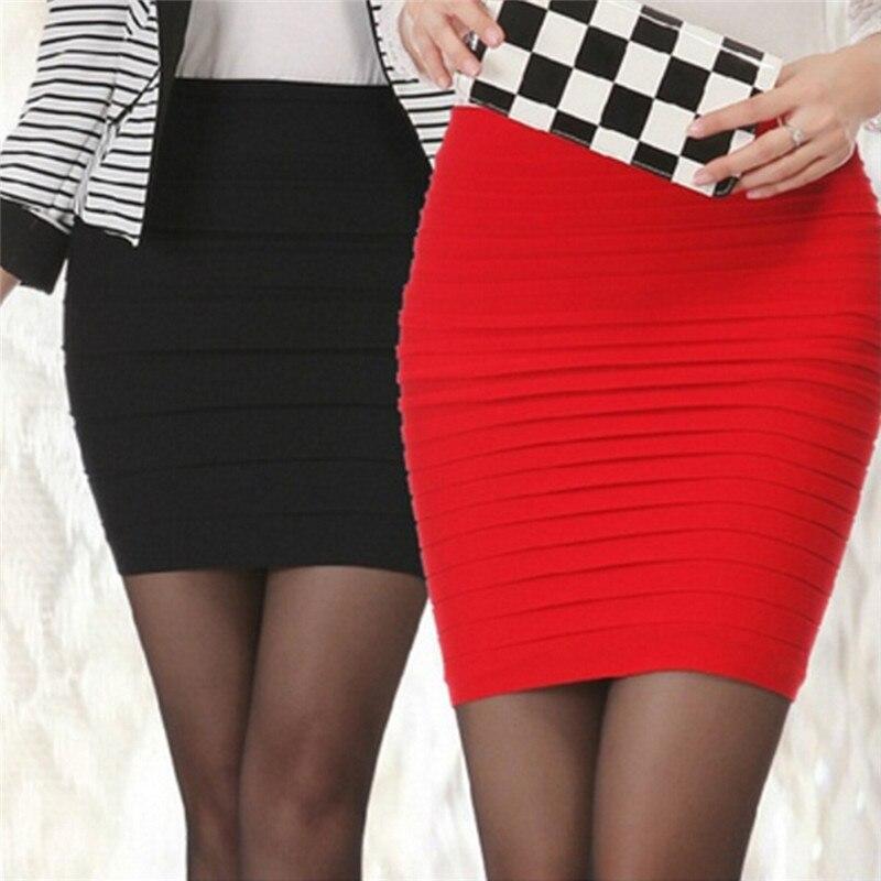 Summer Wear Skirts Pinstripe Stretch Short Skirt Of Cultivate One's Morality For Women Mini Skirt