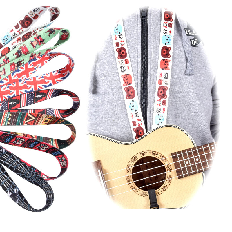high quality Adjustable Classical Nylon Ukulele Strap Sling Colorful With Hook For Ukulele Guitar Accessories xz 788 adjustable footrest for classical guitar black