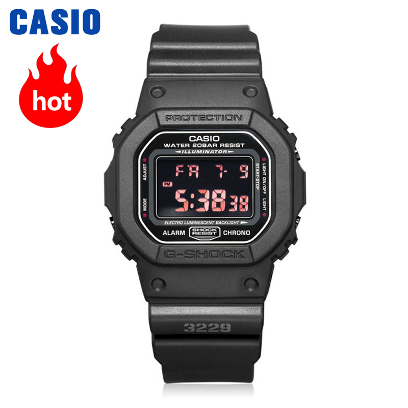 Casio watch Multifunctional Sport Student Electronic Watch DW-5600MS-1D DW-5600BBN-1D DW-5600E-1V DW-5600BBN-1D casio dw 6900sg 2e