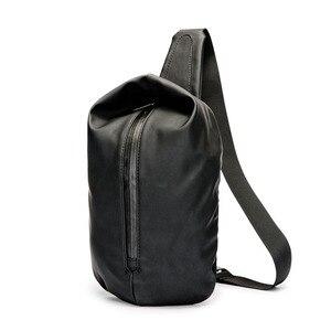 Image 2 - Waterproof Black Nylon Male Chest Bag Men Bags Sling Bag Satchel Yob Portable Slant Package Pack Travel Male Small Messenger Bag