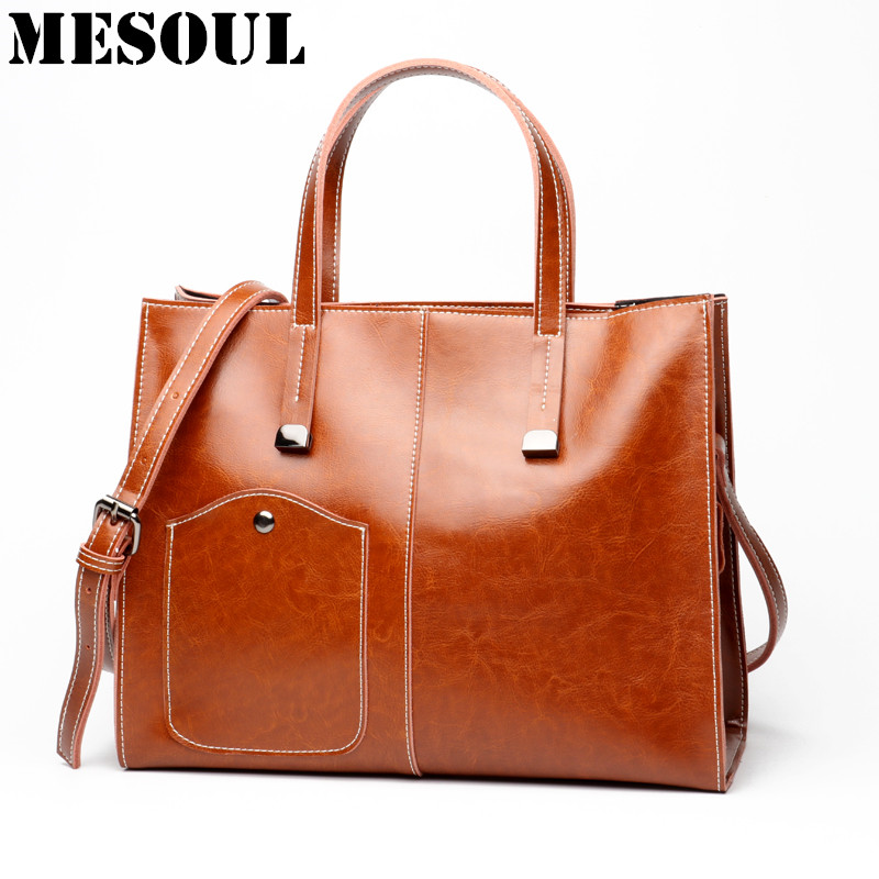 2017 New Genuine Leather Bags For Women Handbags Designer Casual Tote High Quality A4 Available Office Big Shoulder Bag Female gathersun high quality genuine leather shoulder bags cowhide handmade light soft handbags for girls women big tote bags