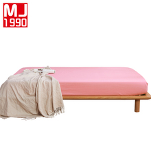 Hot 100% Polyester Solid Color Fitted Sheet Mattress Cover Four Corners With Elastic Band Sheets Bed Size 160x200cm