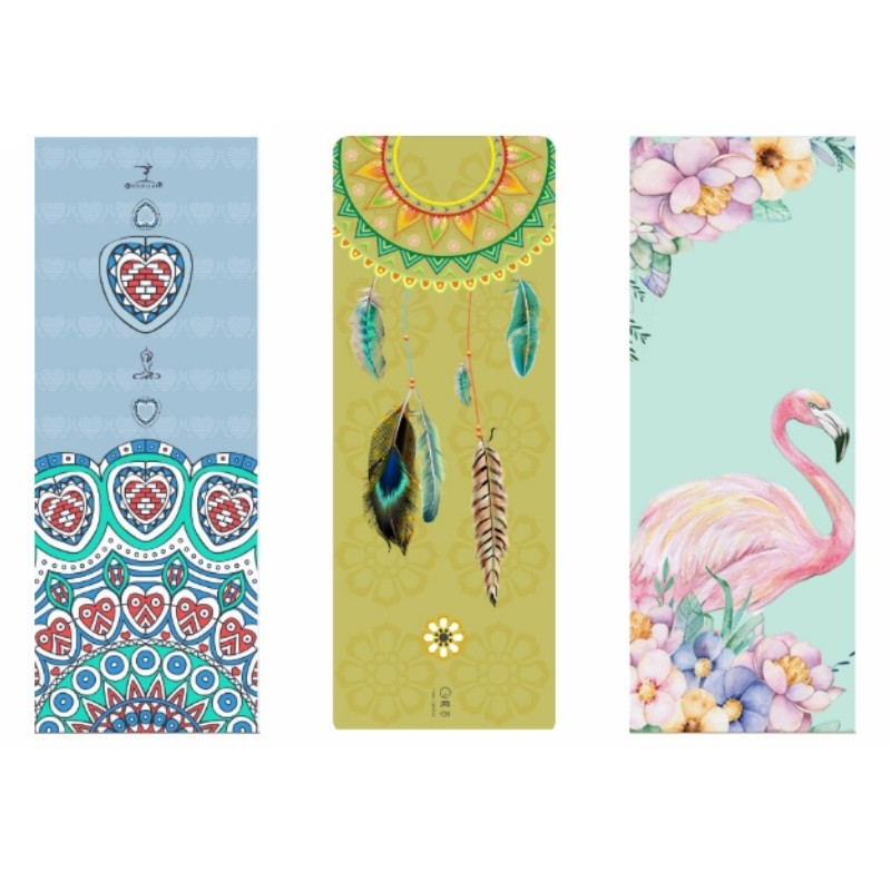 Wholesale 1pcs Custom Suede 4MM 5MM Yoga Mat Suede Natural Rubber Anti Slip Printed Pilates Exercise Mat Sport Mats Fitness more longer new style 183cm 68cm 5mm natural rubber non slip tapete yoga gym mat lose weight exercise mat fitness yoga mat