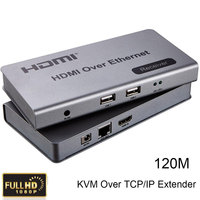 HDMI KVM Over TCP IP Extender Up To 120m CAT5e 6 Cable Connect Receiver Transmitter To