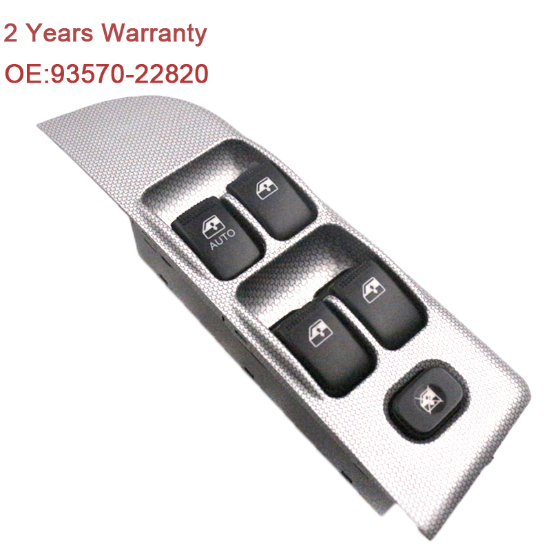 YAOPEI 93570-22820 New Front Left Power Master Window Lifter Control Switch Fit For Kia Rio front left electric power window lifter master control switch for bmw 61319241915 6131 9241 915