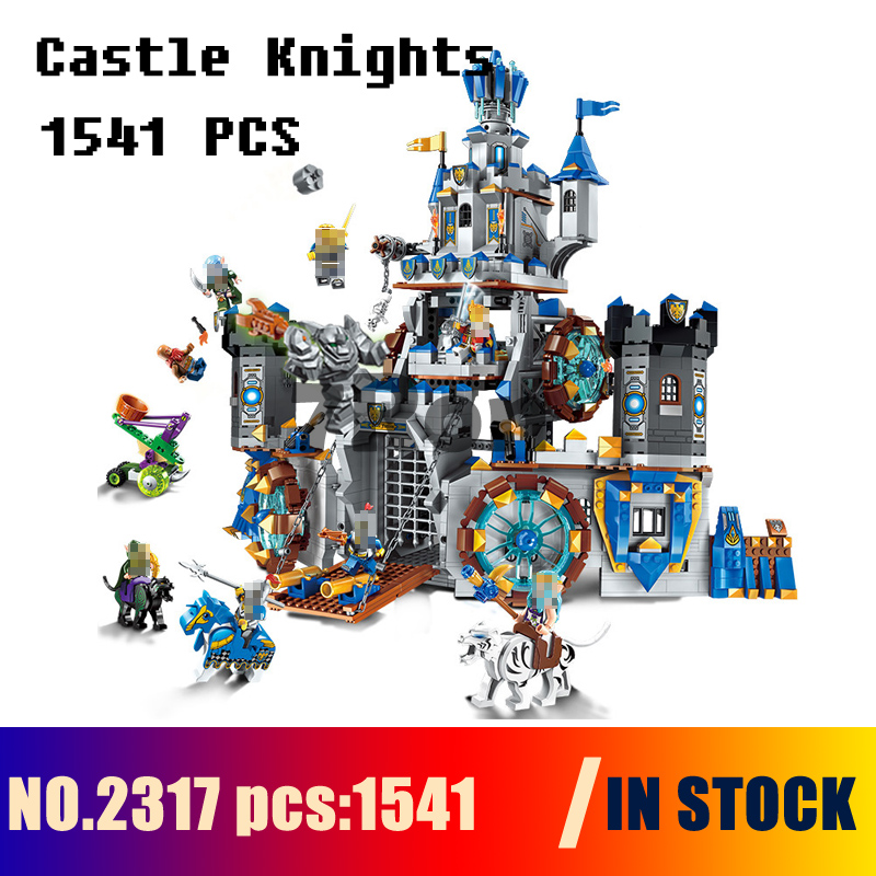 Compatible with lego Models building 2317 1541pcs War Of Glory Castle Knights Battle Bunker Enlighten Building Blocks & hobbies enlighten new 2315 656pcs war of glory castle knights the sliver hawk castle 6 figures building block brick toys for children