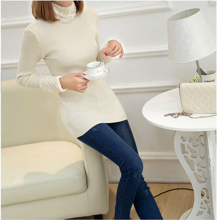 ჱEstilo de Corea últimas moda mujeres otoño suéter Delgado elegante ...