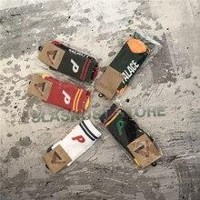 2016 New Lovers Backetball Socks Palace Letter P Pattern Mens Hiphop Skateboards Contrast Color Socks