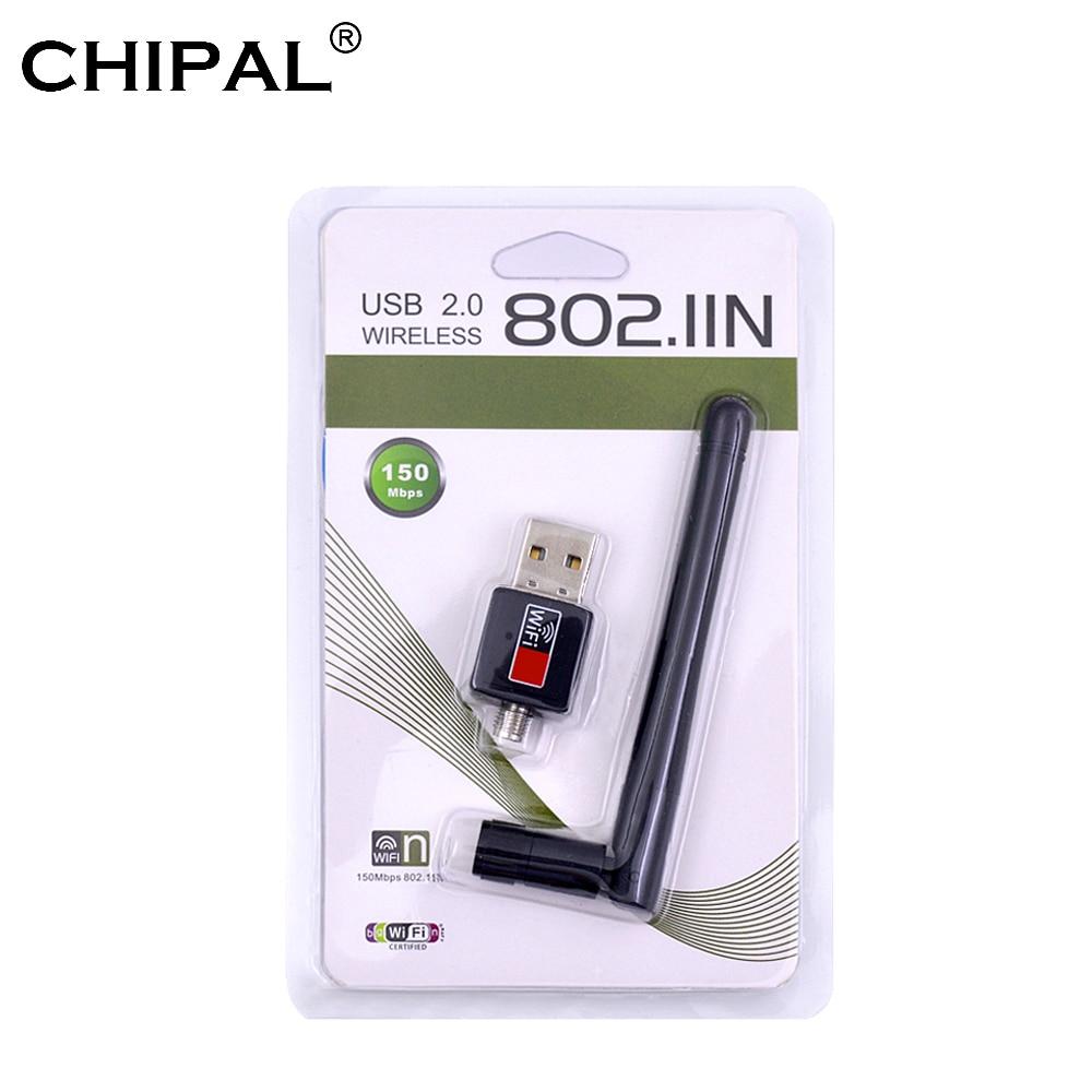150Mbps 150M USB 802.11n Wi-Fi Ethernet Wireless Adapter Card w// 2dbi Antenna US