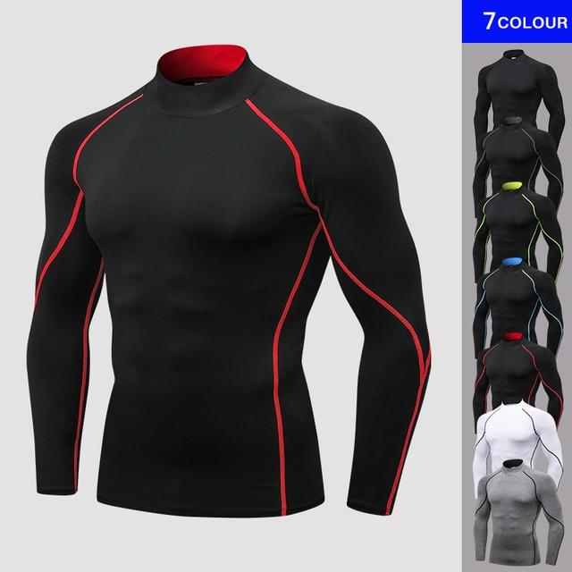 עיצוב חדש כושר T חולצה דחיסת פיתוח גוף ריצה ג 'רזי ספורט חולצה גברים חיצוני בגדי ריצה חולצת Rashguard