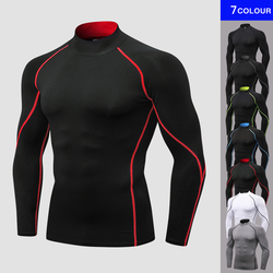Yuerlian New Autumn Gym T-shirt Men Compression Boldbulding Jogging Sport T-shirt Men's Outdoor Clothes Running Shirt Rashguard