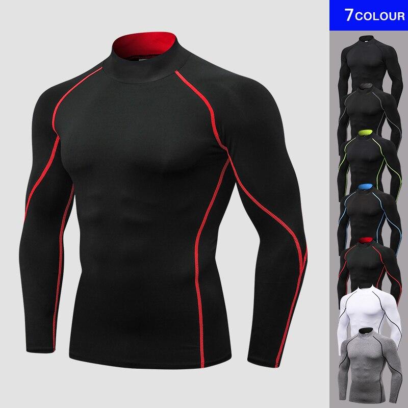 Yuerlian nuevo otoño camiseta hombres compresión Boldbulding Jogging deporte al aire libre de los hombres ropa de camisa lycra